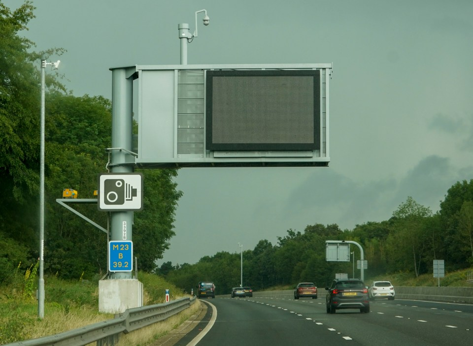 Almost 20,000 motorists were caught on the M23 between Gatwick Airport and the M25