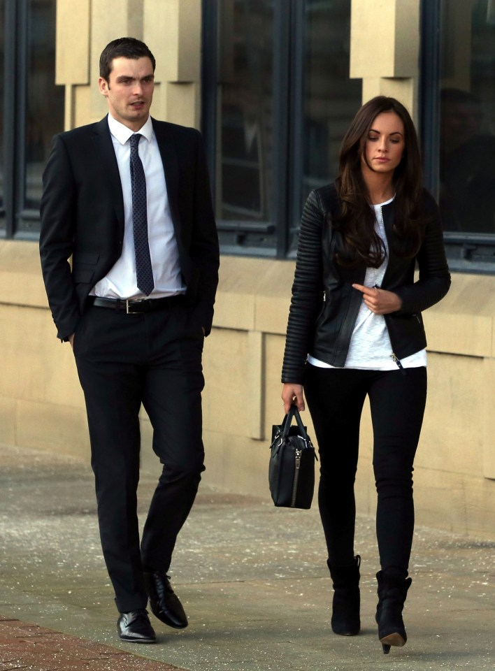 Johnson and Stacey leave Bradford crown court in 2016