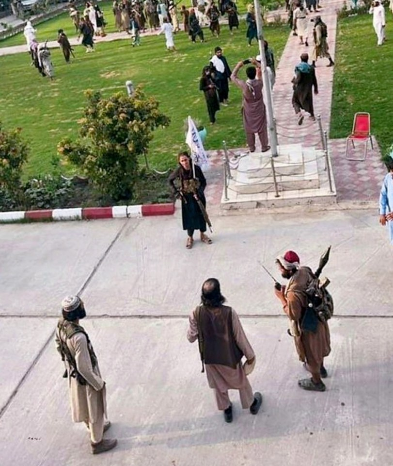 Taliban fighters on the streets of Kabul