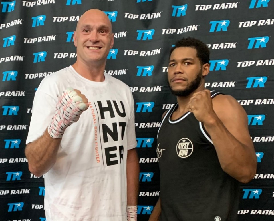 Tyson Fury pictured with Michael Hunter