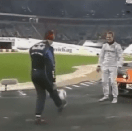 Michael Schumacher used to do the same while his races were delayed