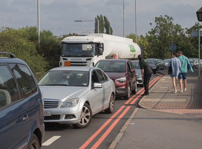 Fuel lorry blocked at Northolt, West London