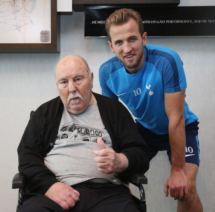 With Tottenham striker Harry Kane in 2017