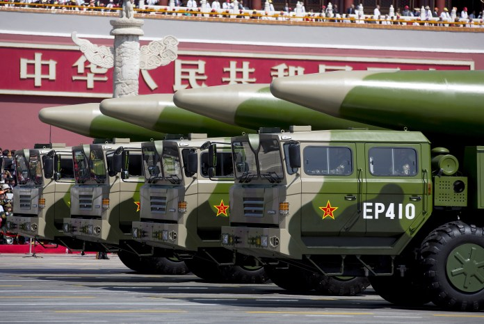 Meanwhile, China is ramping up its nuclear missile production and building silos