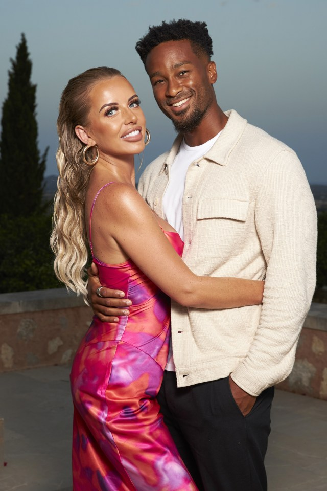 Faye and Teddy found love on the ITV2 dating show Love Island