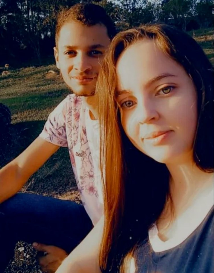 Matheus Rodrigues Araujo, 21, with his fiancée Larissa, who says she still can't believe he's gone