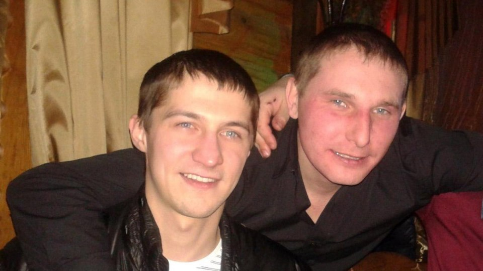The pair were best friends until Vyachelav allegedly discovered the horrifying footage