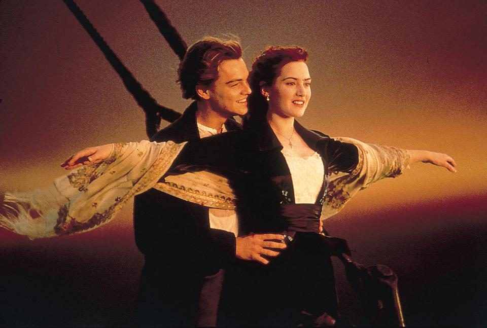 Meanwhile iconic rom-com Titanic polled highly for most-viewed movie