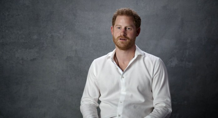 Prince Harry filmed for documentary from US