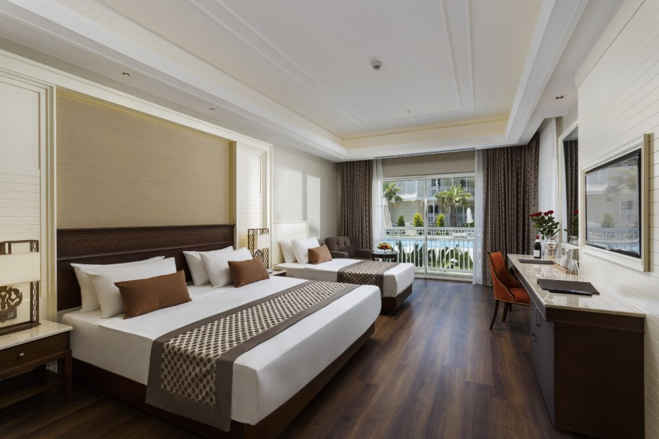The Gural Premier hotel is laid out like a village, in small three-storey blocks, designed in traditional Turkish style