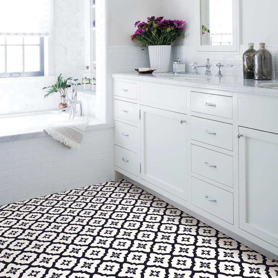 These monochrome tile stickers are £14 at Dunelm
