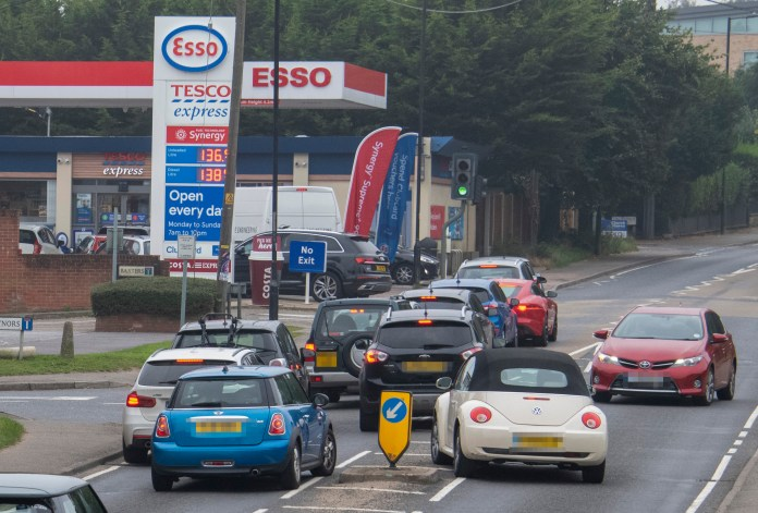 Panic-shopping causes chaos on the streets in Danbury, Essex