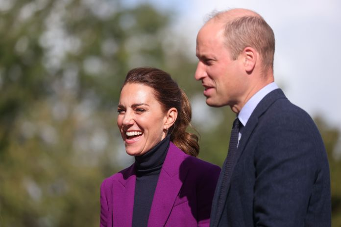 Prince William, Duke of Cambridge and Catherine, Duchess of Cambridge arrive for a visit to Ulster University