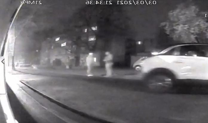 Chilling footage shows moments before Sarah and Couzens were snapped