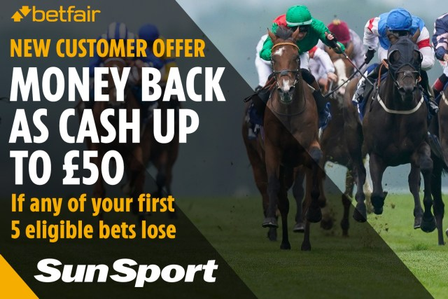 Betfair are offering new customers £50 cash back if any of your first five bets lose