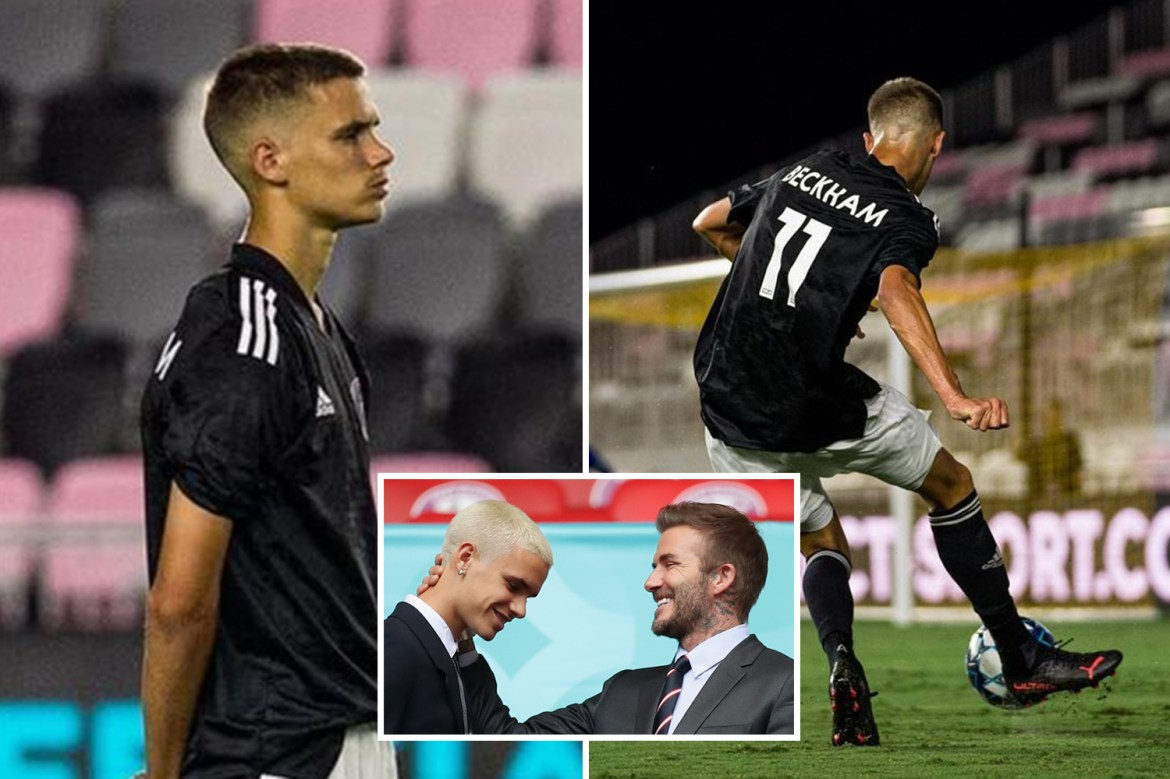 Romeo Beckham makes pro debut as David's son plays right wing for Fort  Lauderdale in draw with South Georgia Tormenta FC