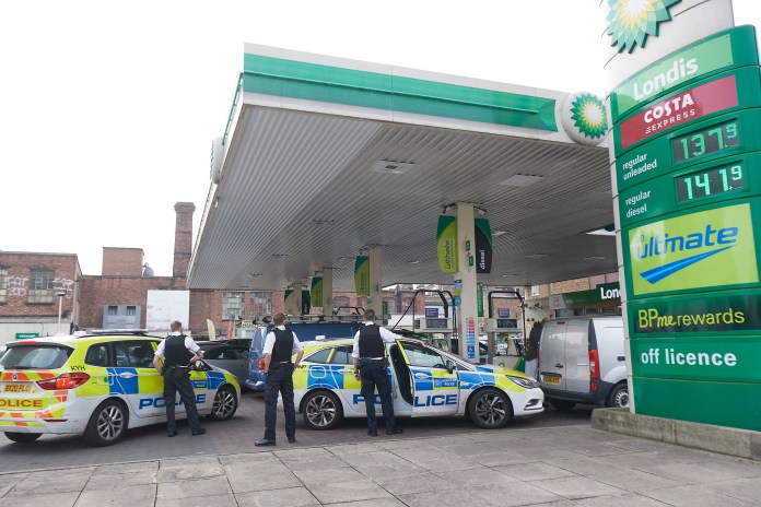 Police had to queue for petrol at this station in Hackney