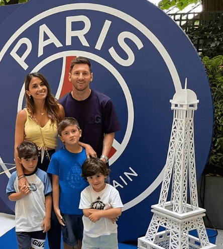 The Messi family have been staying in a five-star hotel since the move to Paris