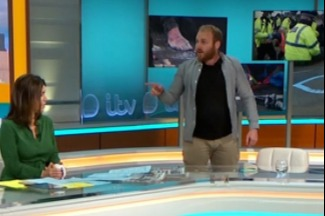 Norton loses his temper with the GMB presenters and walks off the set