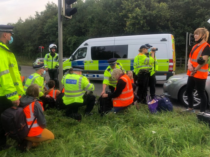 Officers M25 .  But Britain's Eco Warriors are insulated