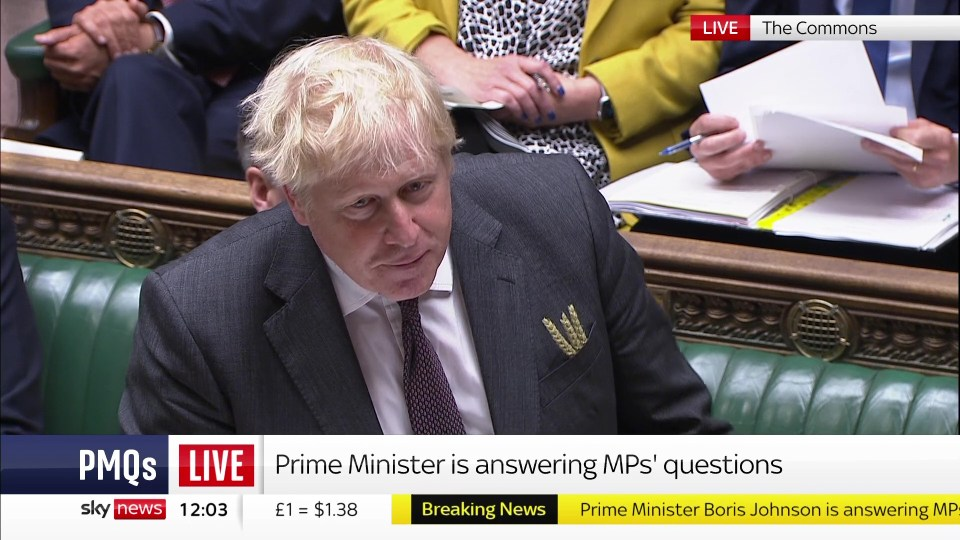 Boris appeared to have his wheat lapel inside his pocket instead