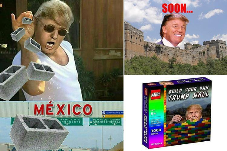 Donald Trump Mexican wall memes erupt on Twitter as ...