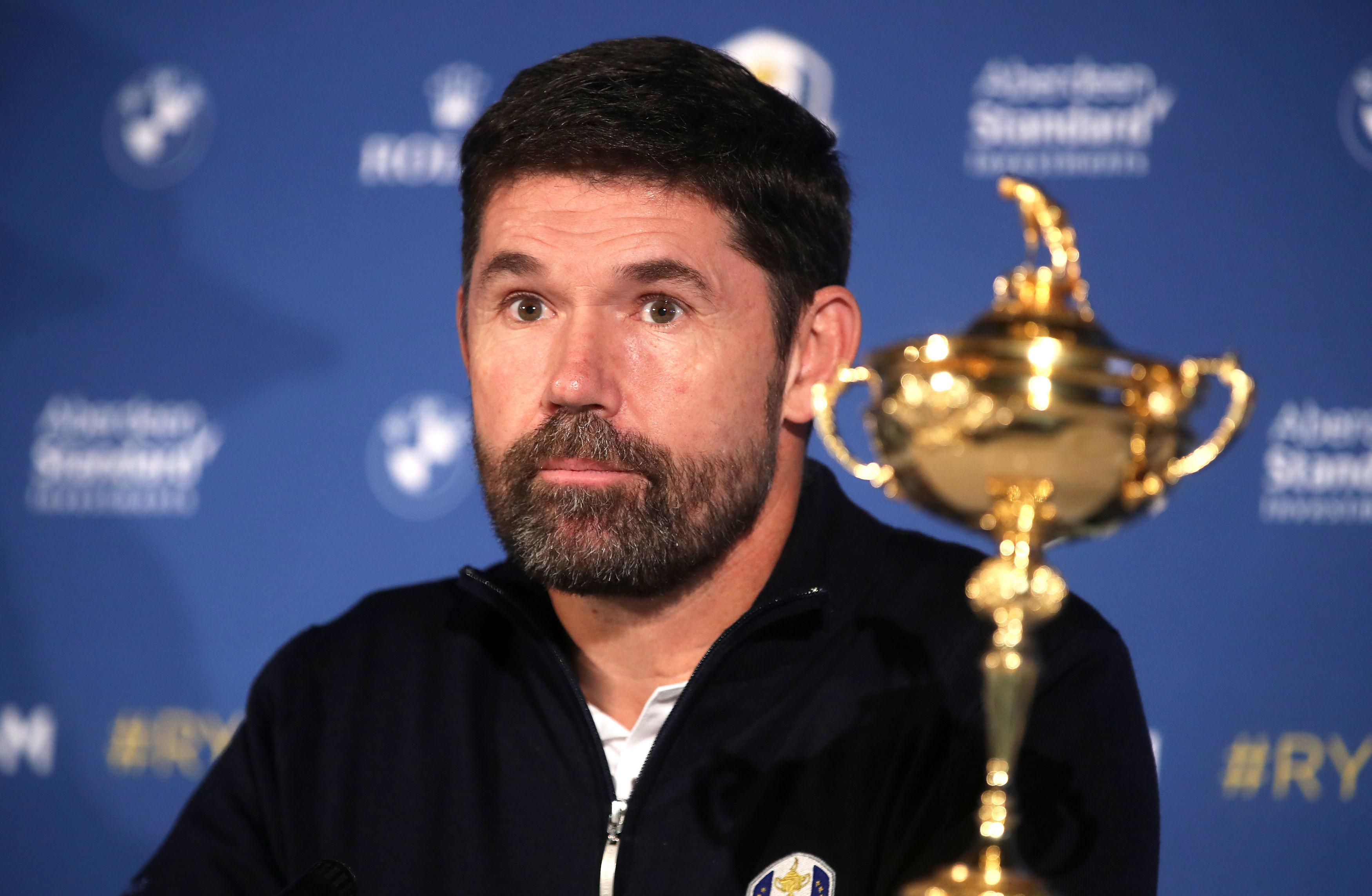European Ryder Cup captain Padraig Harrington during the Team Europe Ryder Cup Press Conference at Wentworth today