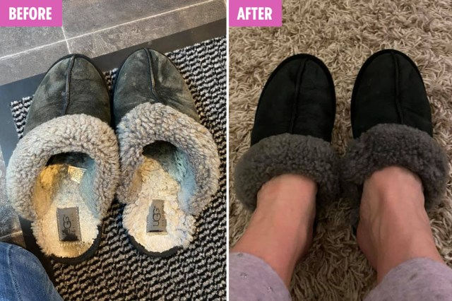 Mum shares incredible transformation pic of ruined Ugg slippers