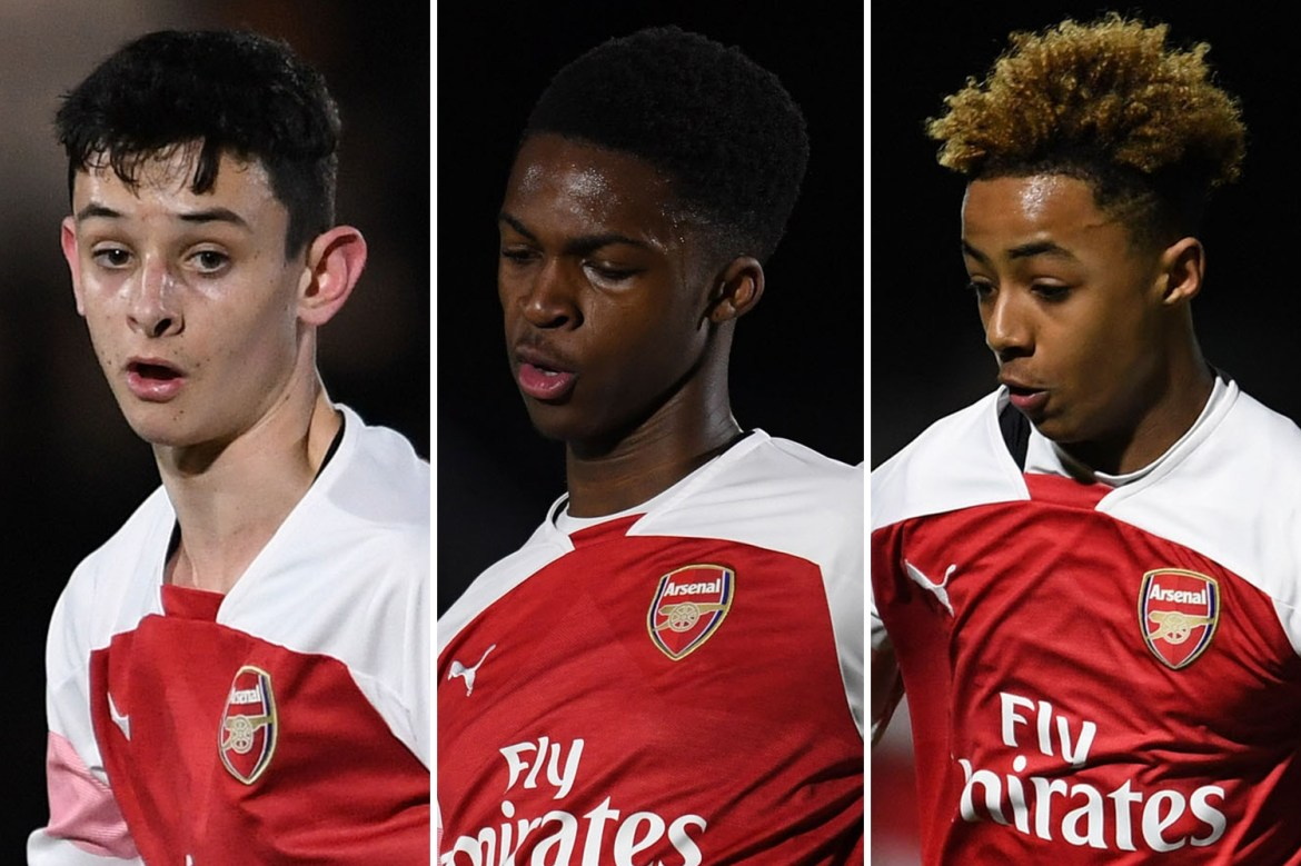 Arsenal name three youngsters in Europa League squad for Molde clash with  Monlouis, Giraud-Hutchinson and Patino added