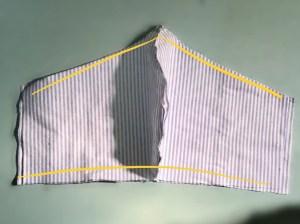 Linee giuda per la cucitura della mascherina protettiva. parte 2