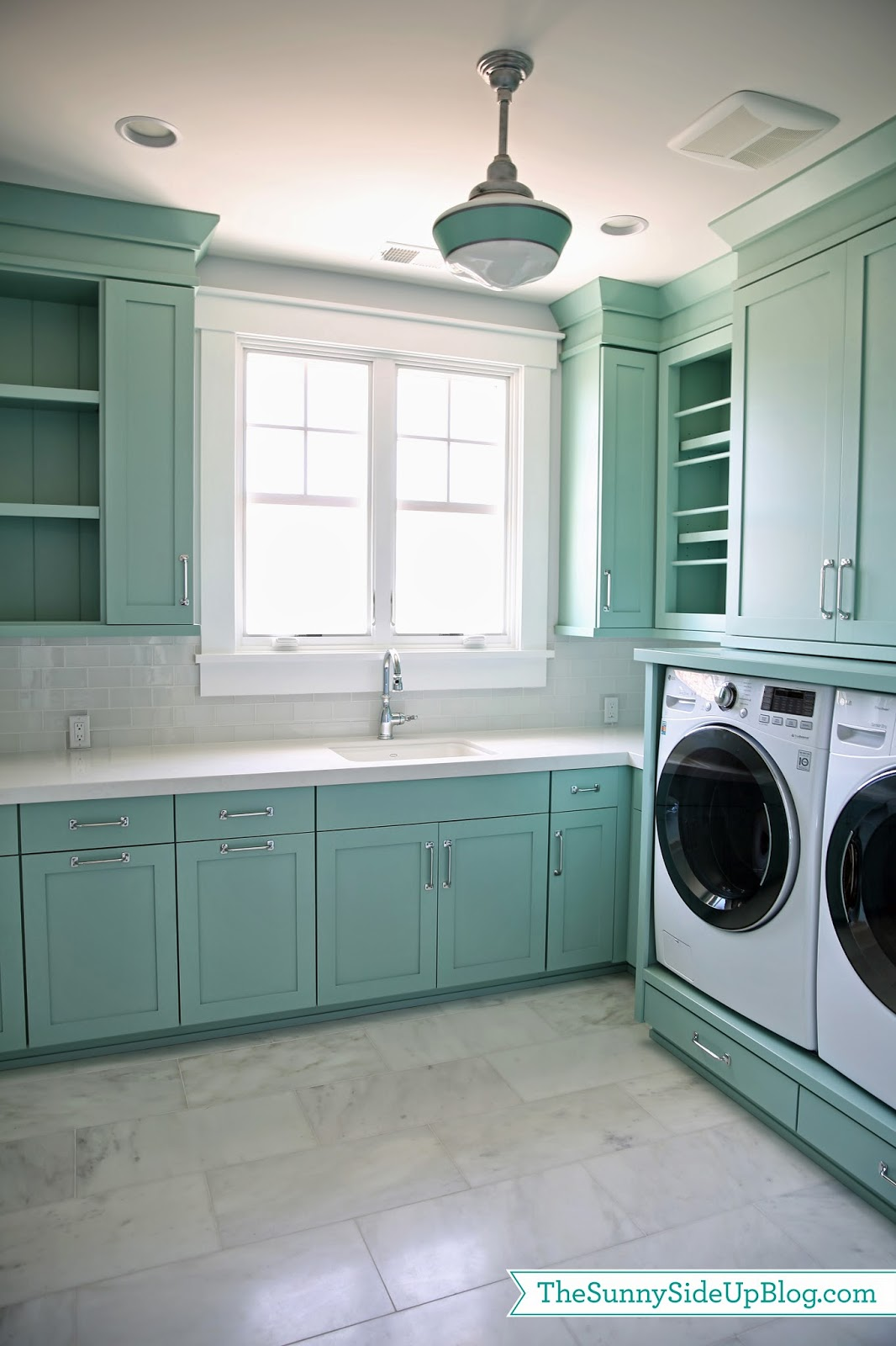 Upstairs Laundry Room - The Sunny Side Up Blog on Laundry Room Cabinets  id=75454