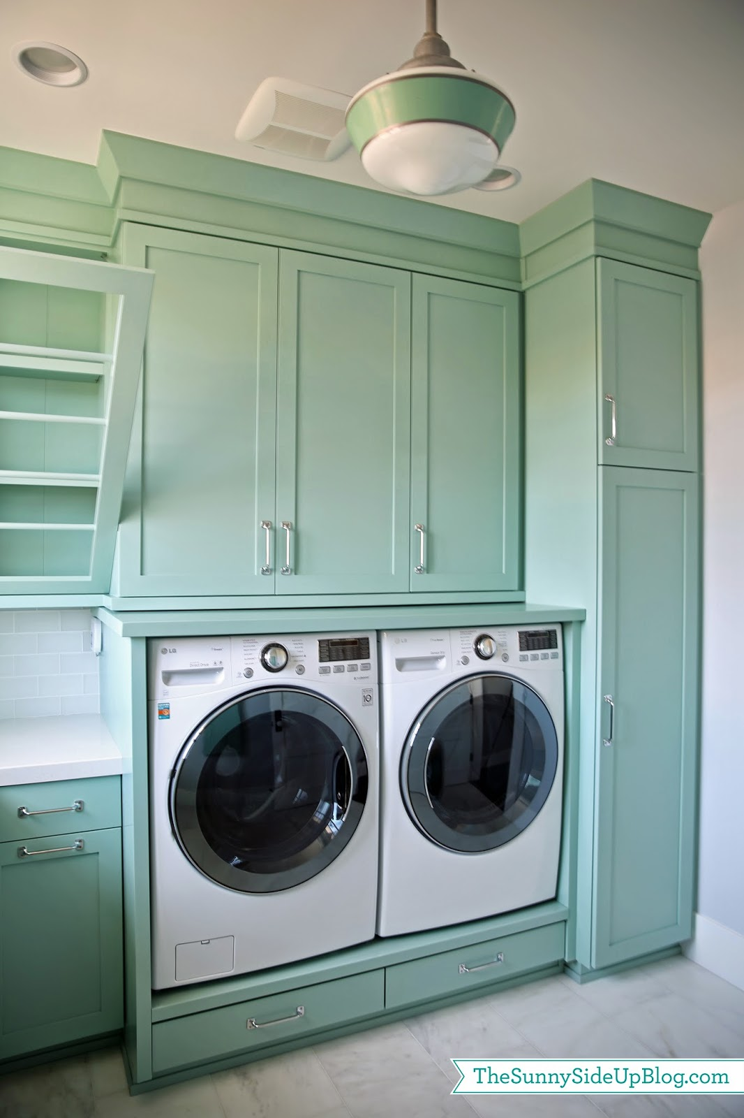 Upstairs Laundry Room - The Sunny Side Up Blog on Laundry Cabinets  id=91441