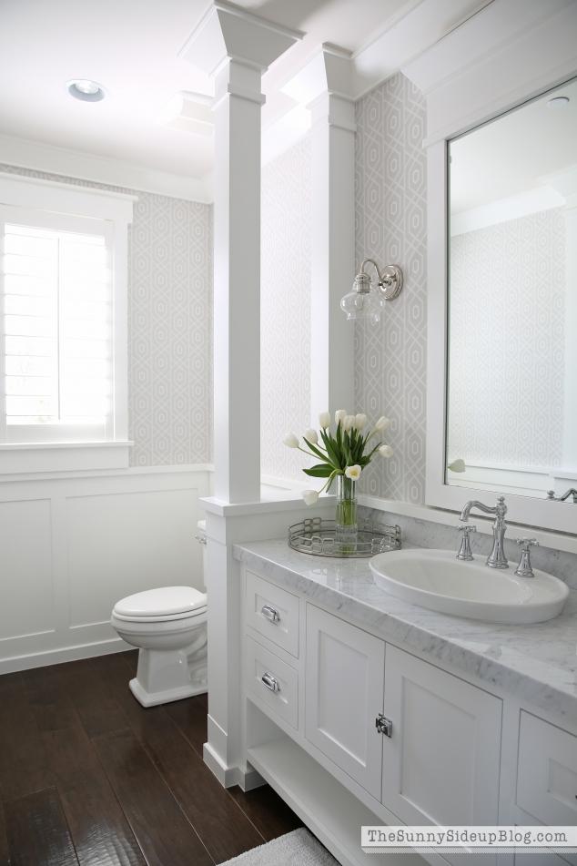 Spring in the Powder Bathroom - The Sunny Side Up Blog on Small Bathroom Ideas Pinterest id=60555