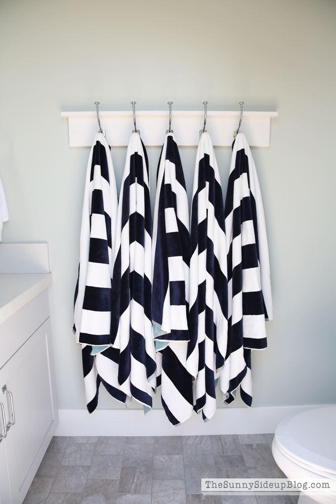 pool towel rack the sunny side up blog