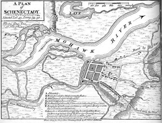 Schenectady Map 1750