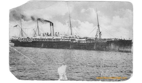 SS Derbyshire 1922 returns from India and Palestine