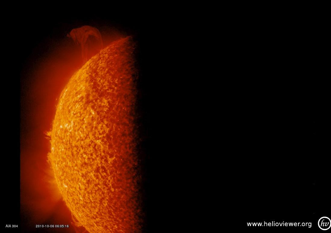 A Solar Eruption as the Earth Blocks SDO's View of the Sun