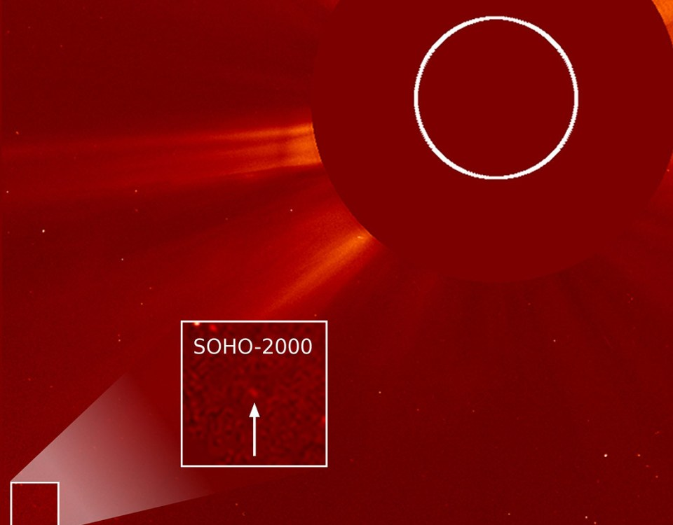 On December 26, SOHO discovered its 2000th comet.