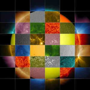 This collage of solar images from NASA's Solar Dynamics Observatory (SDO) shows how observations of the sun in different wavelengths helps highlight different aspects of the sun's surface and atmosphere. Credits: NASA/SDO/Goddard Space Flight Center