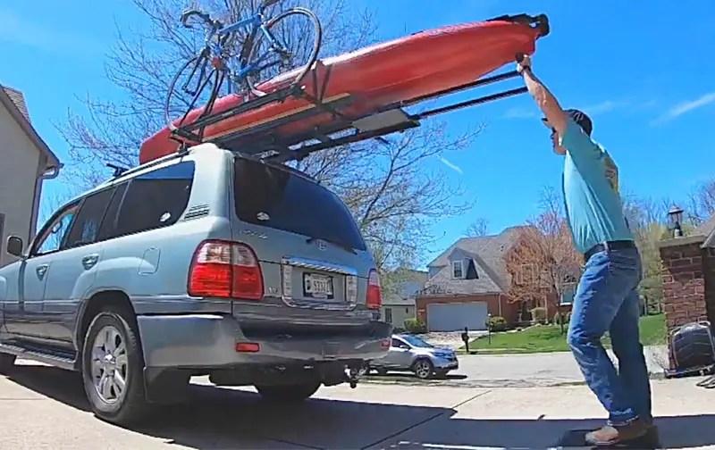 easy kayak roof rack loader for car