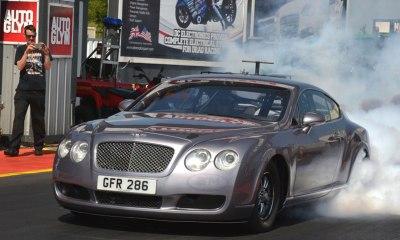 Bentley Continental GT drag racer