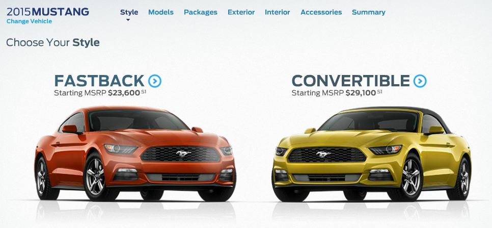 Ford Mustang Configurator