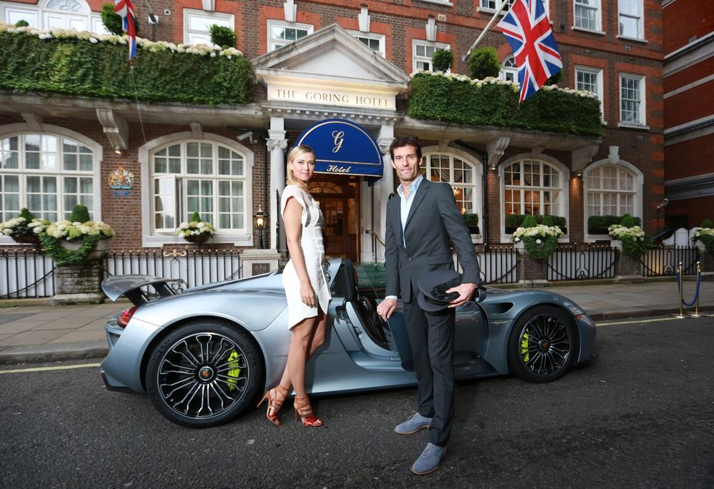Maria Sharapova, Mark Webber at pre- Wimbledon party
