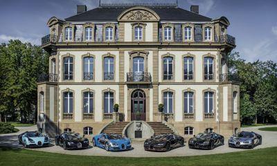 All six Bugatti Veyron Legends at Monterey