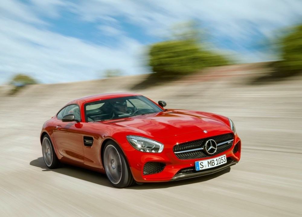 Mercedes AMG GT front angle
