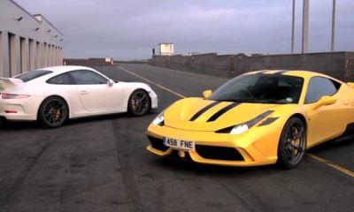Ferrari 458 Speciale vs Porsche 911 GT3