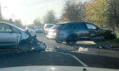 David Beckham crashed his Audi RS6 Avant