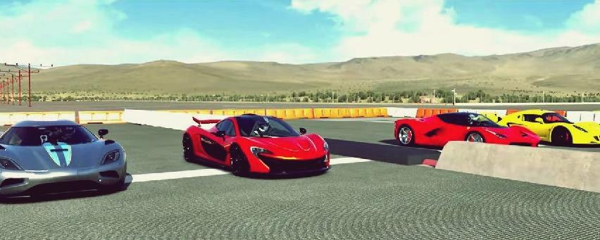Forza 5 supercar drag race