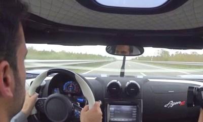 Koenigsegg Agera R high speed on Autobahn