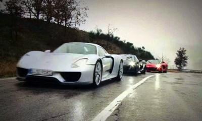 Mclaren P1 vs LaFerrari vs Porsche 918